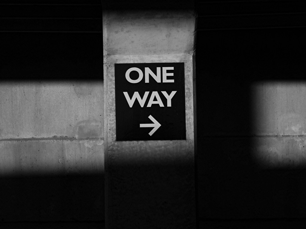 One Way Arrow, representing the one track thinking and mind the office firm represents